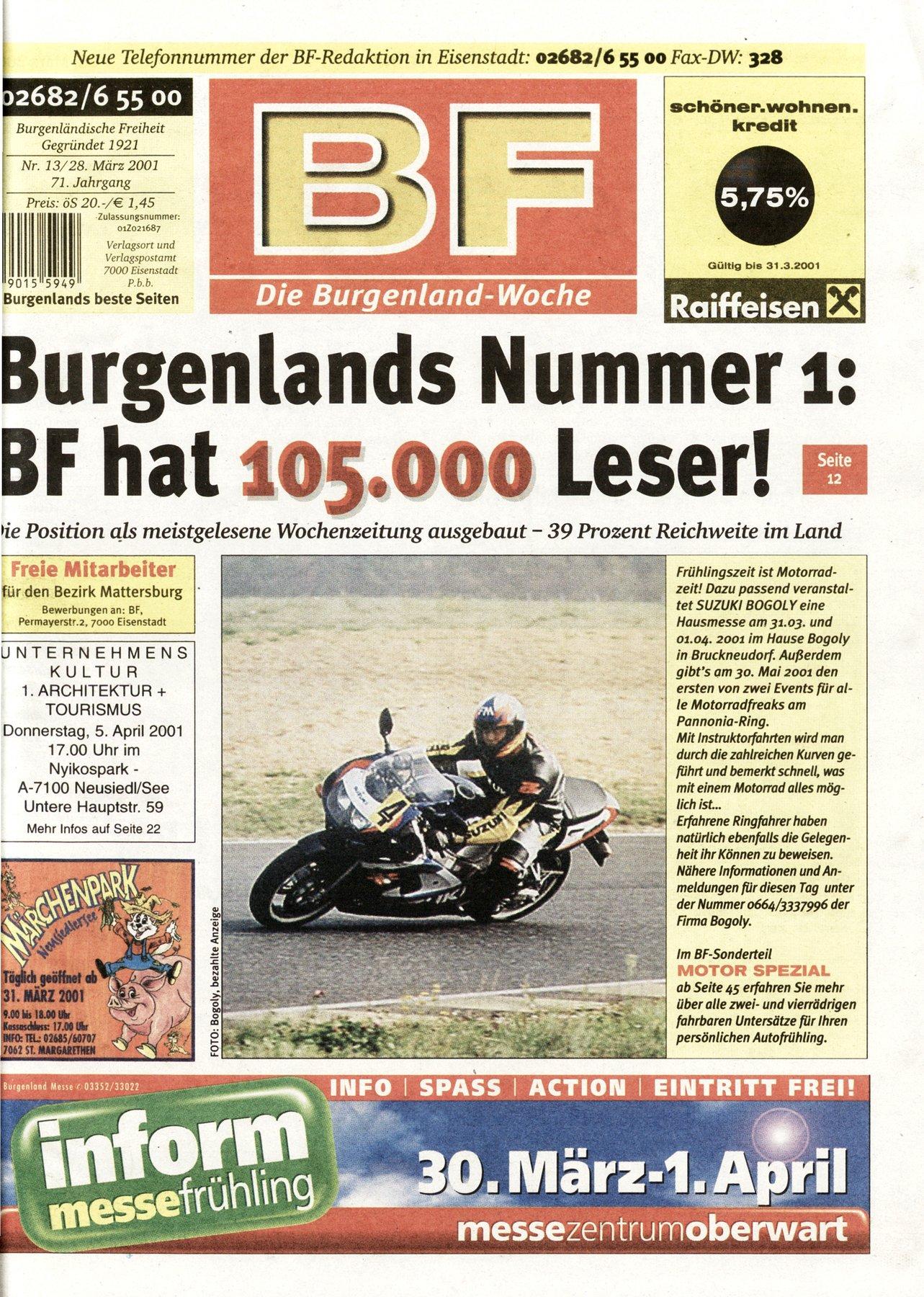 Die BF hat 105.000 Leser